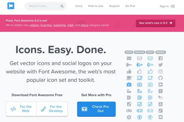 Webアイコン(FontAwesome)を使ってみよう!
